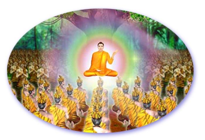 The Buddha giving Teachings
